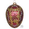 ORNAMENT EGG RED